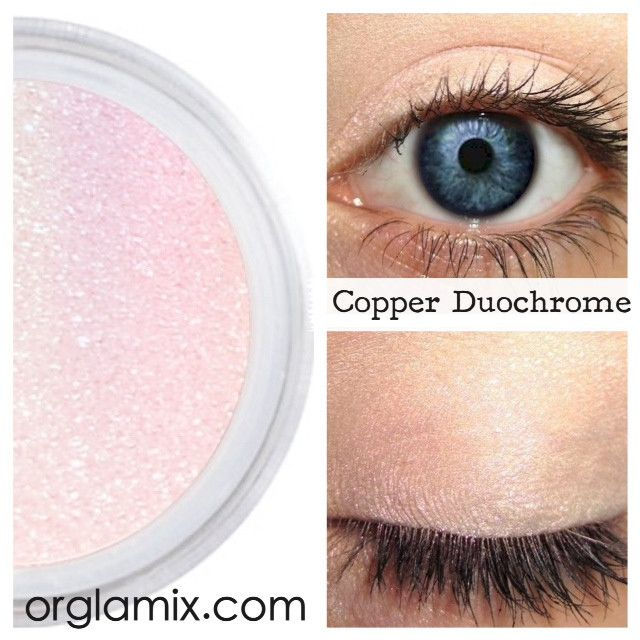 Copper Duochrome Eyeshadow Effects - Cruelty Free Makeup, Best Mineral Makeup, Natural Beauty Products, Orglamix