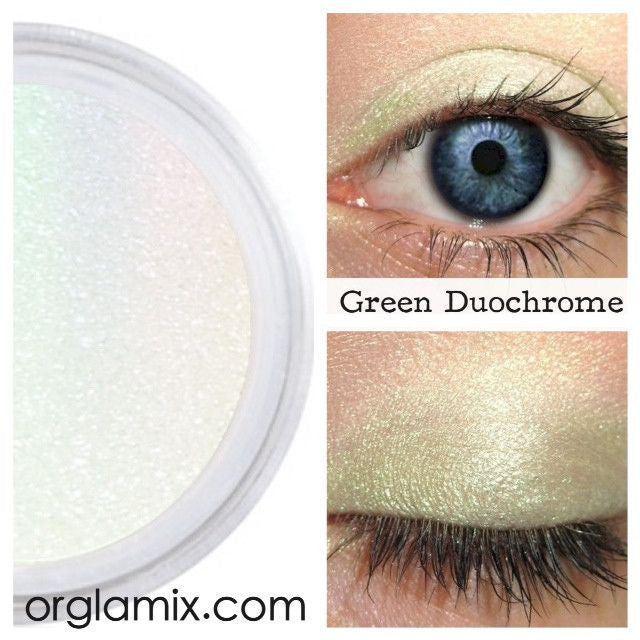 Green Duochrome Eyeshadow Effects - Cruelty Free Makeup, Best Mineral Makeup, Natural Beauty Products, Orglamix