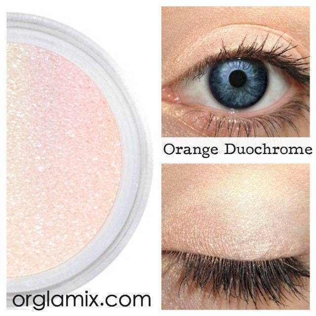 Orange Duochrome Eyeshadow Effects - Cruelty Free Makeup, Best Mineral Makeup, Natural Beauty Products, Orglamix