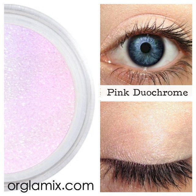 Pink Duochrome Eyeshadow Effects - Cruelty Free Makeup, Best Mineral Makeup, Natural Beauty Products, Orglamix