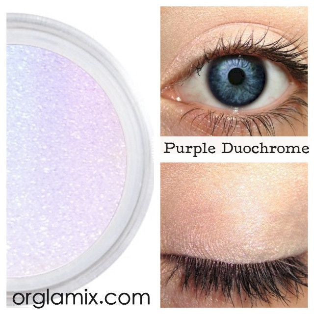 Purple Duochrome Eyeshadow Effects - Cruelty Free Makeup, Best Mineral Makeup, Natural Beauty Products, Orglamix