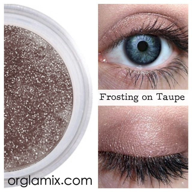 Frosting On Taupe Mineral Eyeshadow Orglamix Natural Eyeshadow