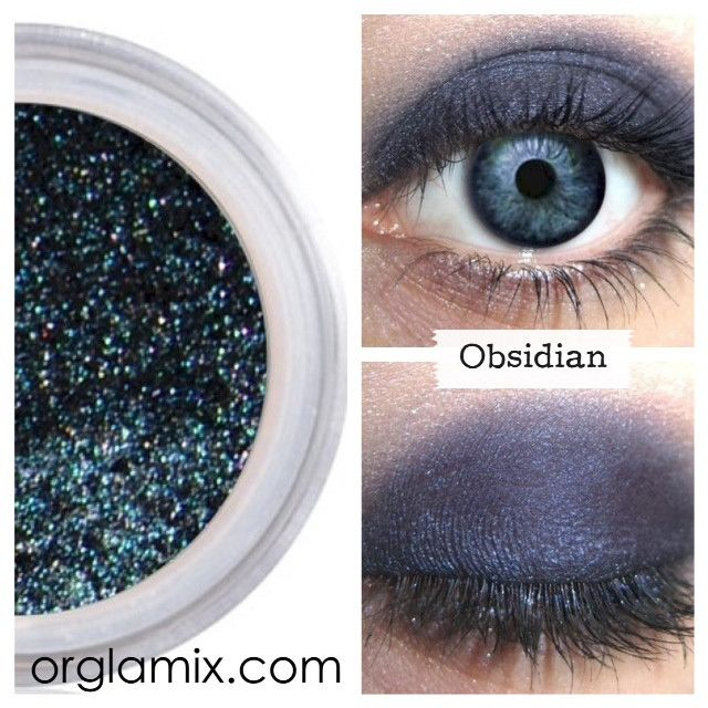 Obsidian Mineral Eyeshadow Orglamix Natural Eyeshadow