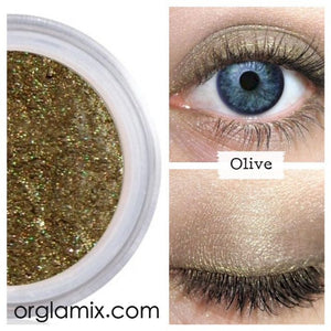 Olive Eyeshadow - Cruelty Free Makeup, Best Mineral Makeup, Natural Beauty Products, Orglamix