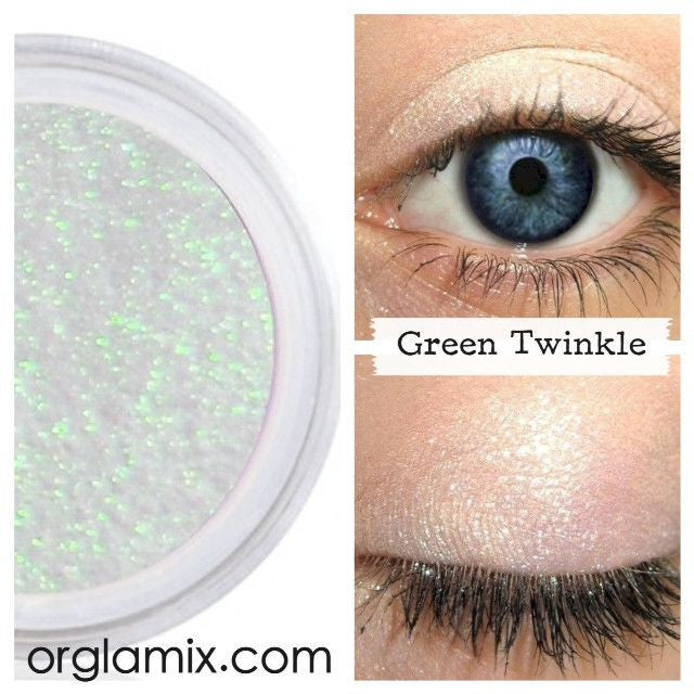 Green Twinkle Effects Eyeshadow - Cruelty Free Makeup, Best Mineral Makeup, Natural Beauty Products, Orglamix