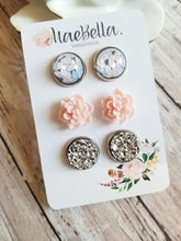Load image into Gallery viewer, MaeBella Stud Earring Trio