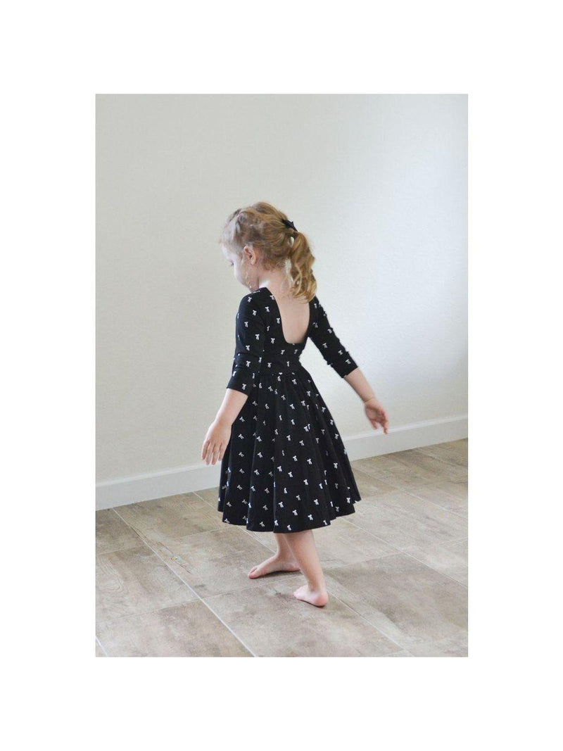 The Autumn Dress in Vintage Bow