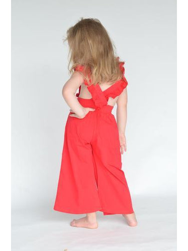 The Rosie Romper in Scarlet