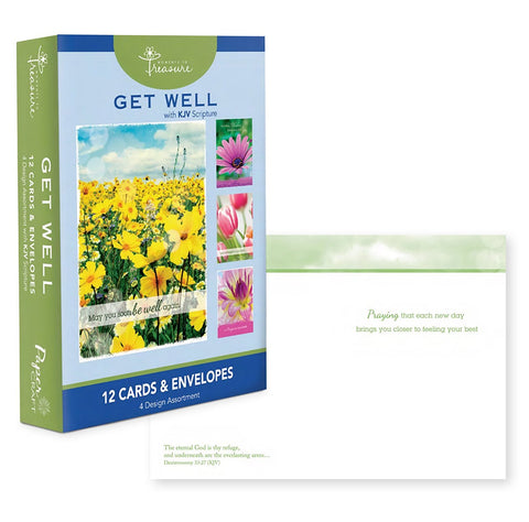 Get Well ~ Spring Floral ~ Boxed Cards by Papercraft