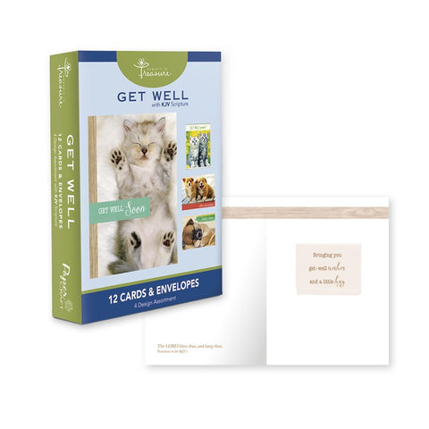Get Well ~ Kittens & Puppies ~ Boxed Cards by Papercraft