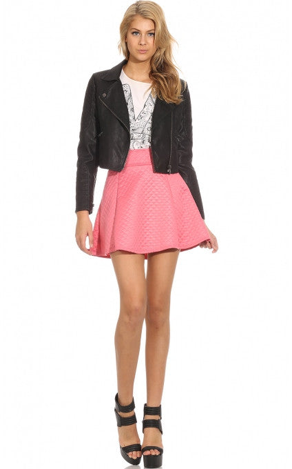 """As Long as You Love Me"" Pink Quilted Skirt"