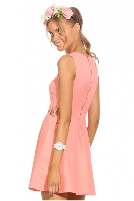 """Peachy Attitude"" Criss Cross Dress"