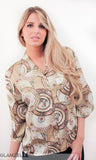 Porcelain of the World Print Blouse