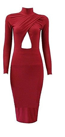 """We are Free"" Kim K Burgundy Bodycon Dress"