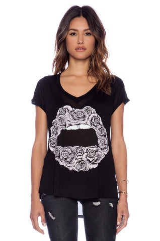 Becca Rose Lips Print Tee T-shirt