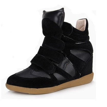 Maranchic Bekett Wedge Sneakers (Black)