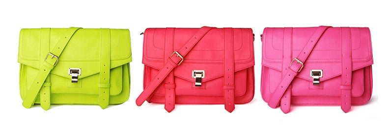 PS1 Fluorescent Green Satchel