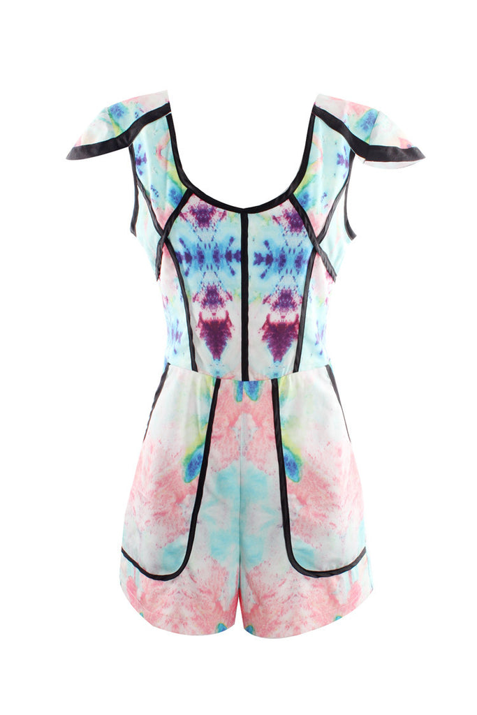 """Abstract Love"" Pastel Onepiece Romper Playsuit"