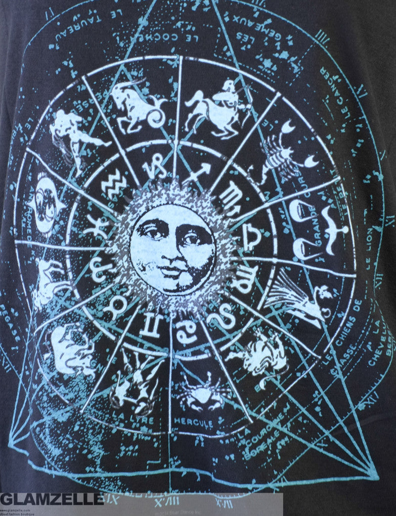 "BOHO ""Astrology, Moon & Sun"" Zodiac Signs Print Muscle Tank"