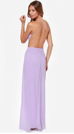 "CHIC ""Rooftop Garden"" Backless Maxi Dress (3 colors available)"
