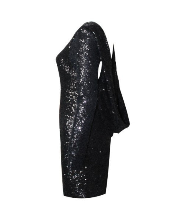 """Bare & Shiny"" Backless Sequin Mini Dress (4 colors available)"
