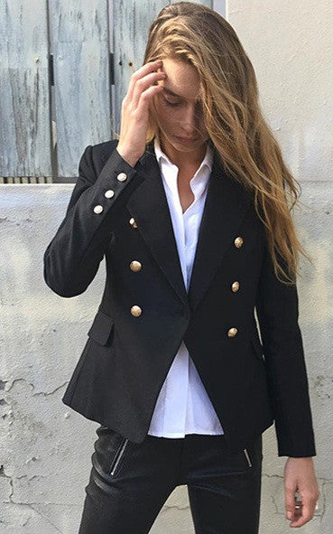 Balmania Stand Out Black Blazer Gold Buttons (2 colors available)