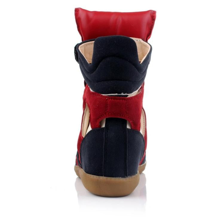 Maranchic Bekett Wedge Sneakers (Red/Navy)