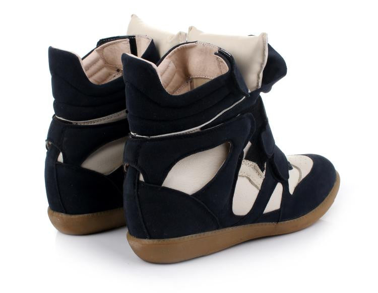 Maranchic Bekett Wedge Sneakers (White/Navy)