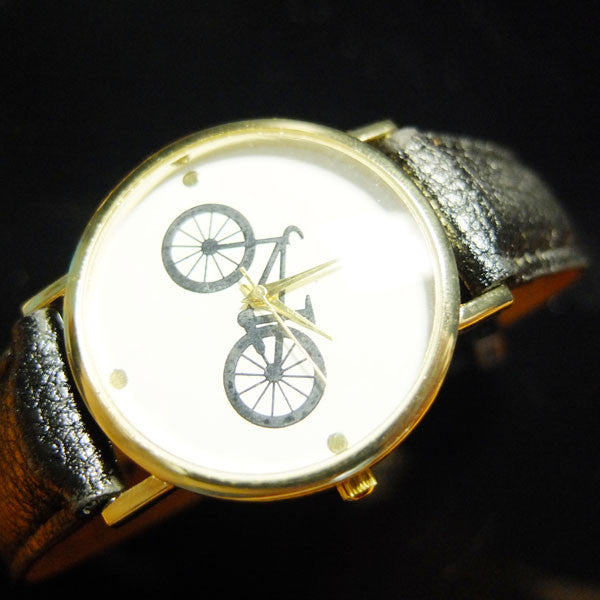 """In the City"" Bicycle Print Watch (2 colors available)"