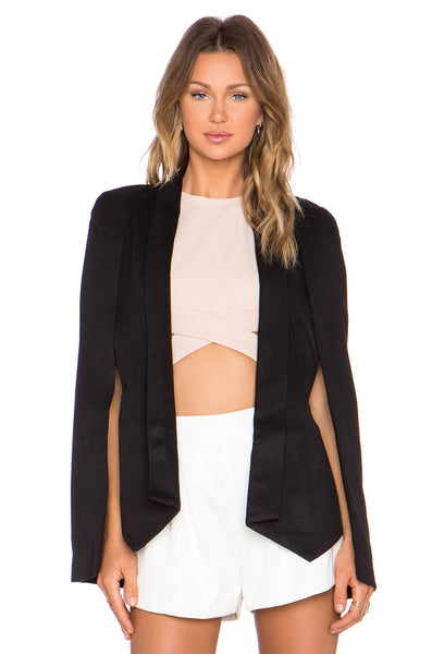 """Champagne Taste"" Cape Blazer (2 colors available)"