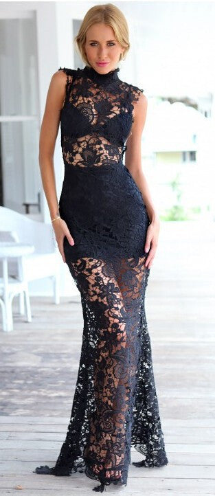 """Red Carpet Ready"" Maxi Long Crochet Dress (3 colors available)"
