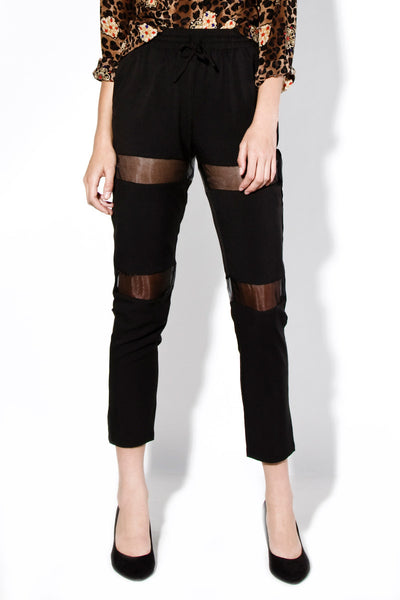 Mesh Cutout Casual Pants (3 colors available)