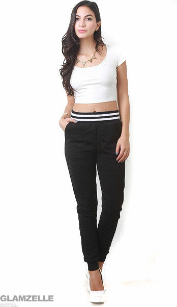 "CHIC ""All I Need"" Quilted Joggers Pants (2 colors available)"
