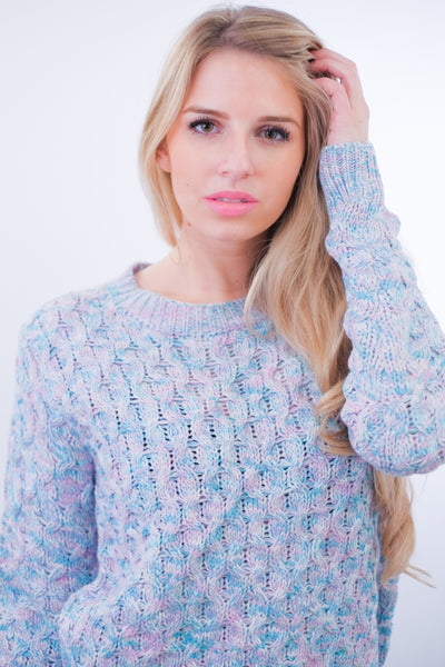 The Chiara Pastel Crochet Sweater