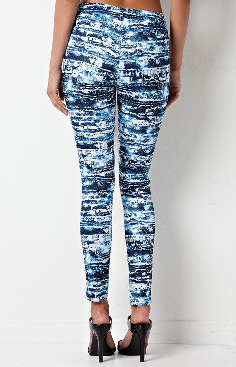 """Futuristic Camo"" Print Scuba Tube Pants (2 colors available)"