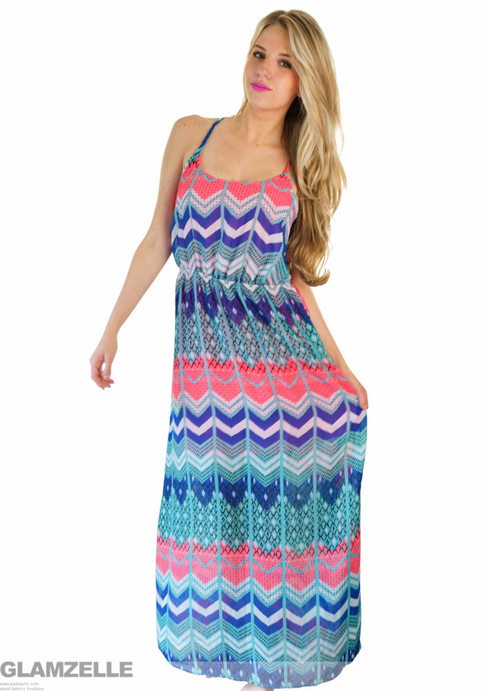 """Only a Dreamer"" Maxi Print Dress"