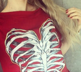 Bones of a Broken Heart Print T-shirt