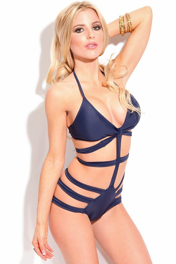 BANDAGE Caged Black Monokini