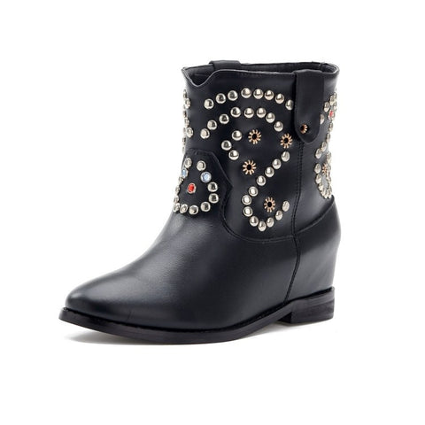 Maranchic Caleen Studded Booties Boots (2 colors available)