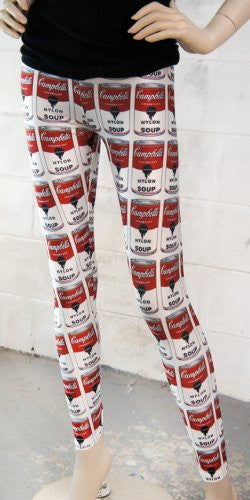 Campbell Nylon Soup Print Leggings