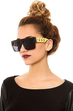 Celebrity Inspired Gold Chains Sunglasses
