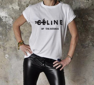 Celine Up The Bitches Print-Shirt (2 colors available)