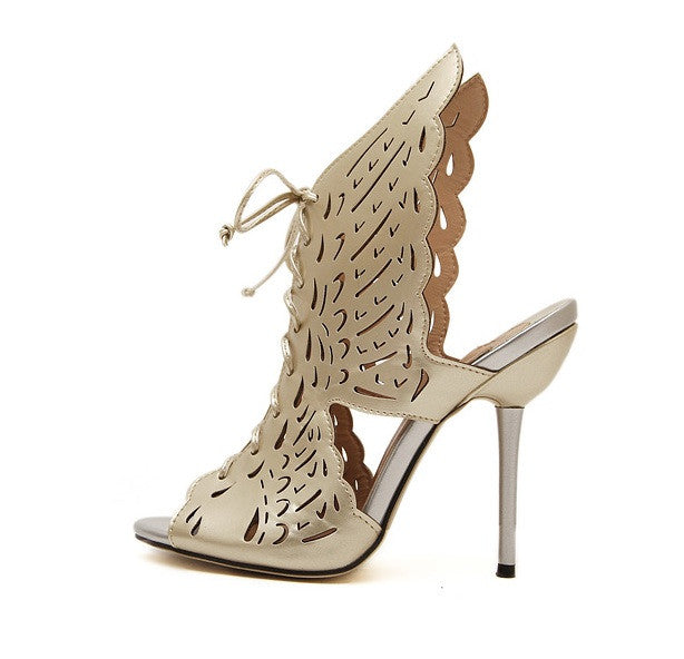 "Cherub ""Angel Wings"" Stiletto Sandals (2 colors available)"