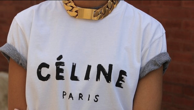 C*line Chunky Chain Choker ID Necklace