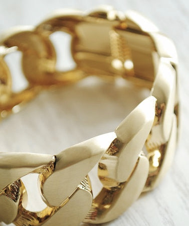 C*line Chunky Chain Gold Bracelet