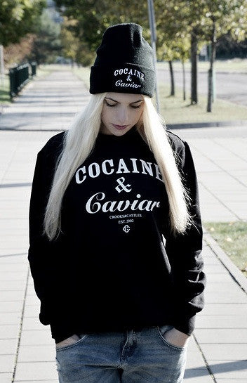 Cocaine & Caviar Black Beanie