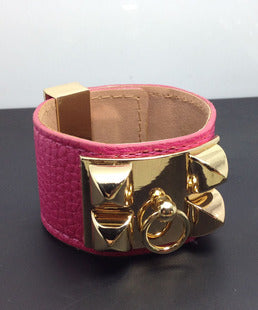 Viktoria Pyramid Leather Bracelet (9 COLORS AVAILABLE)