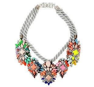Ivana Cord Crystal Necklace