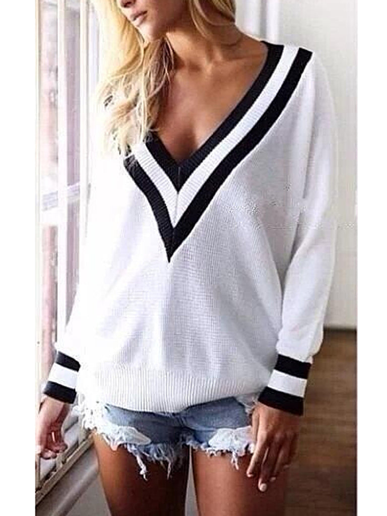 """Varsity Charm"" Sweater Top (2 colors available)"