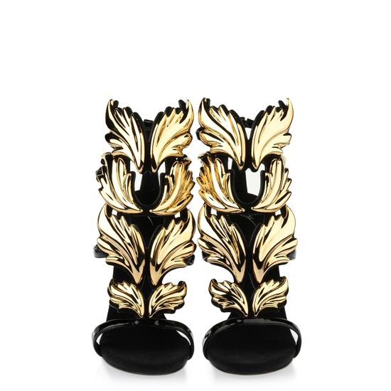 Cruel Summer Gold Flame Sandals
